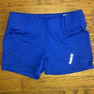 Reebok Playdry Dry Fit Blue Workout Gym Shorts